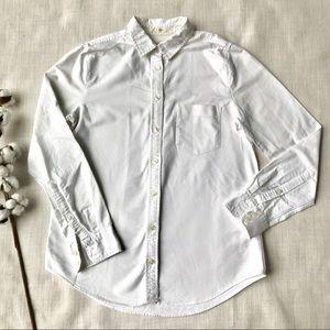 J Crew Boyfit Oxford White Button Down Shirt XS